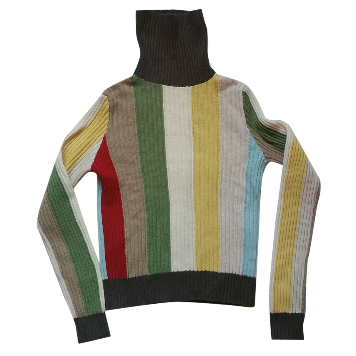 Benetton - Pull   pour femme en laine - multicolore