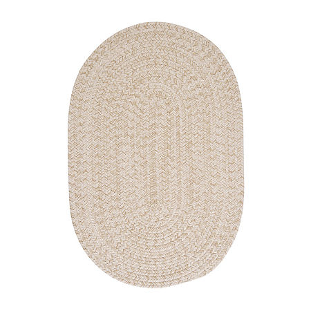 Colonial Mills American Tweed Braided Oval Reversible Indoor Rugs, One Size , White