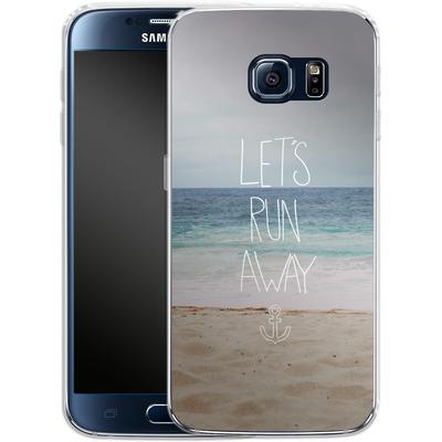 Samsung Galaxy S6 Silikon Handyhuelle - Lets Run Away - Sandy Beach von Leah Flores