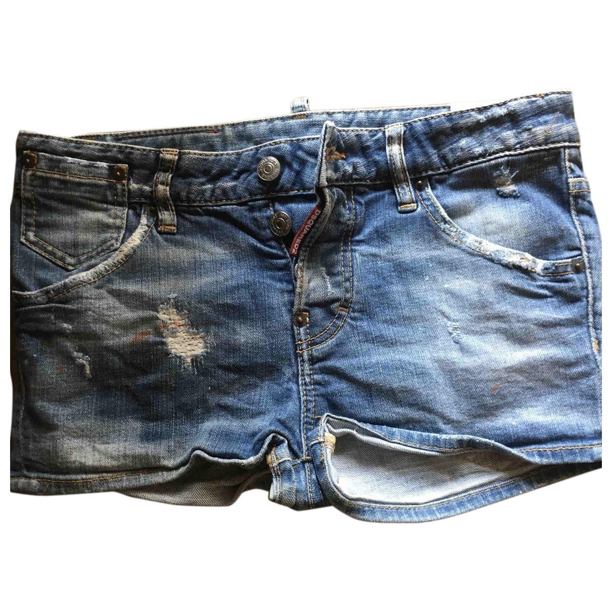 Dsquared2 \N Blue Denim - Jeans Shorts for Women 36 FR