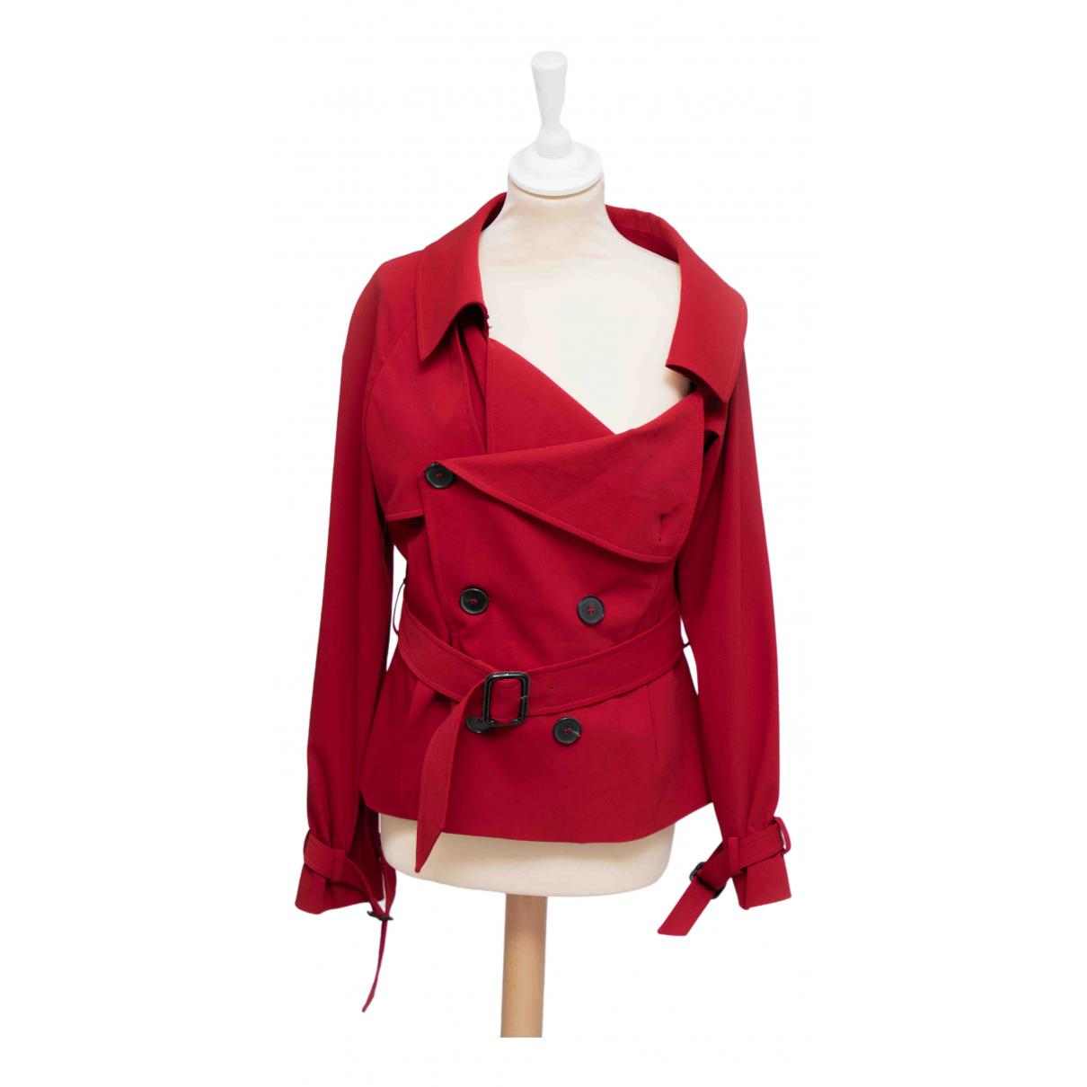 Jean Paul Gaultier - Veste   pour femme en laine - rouge