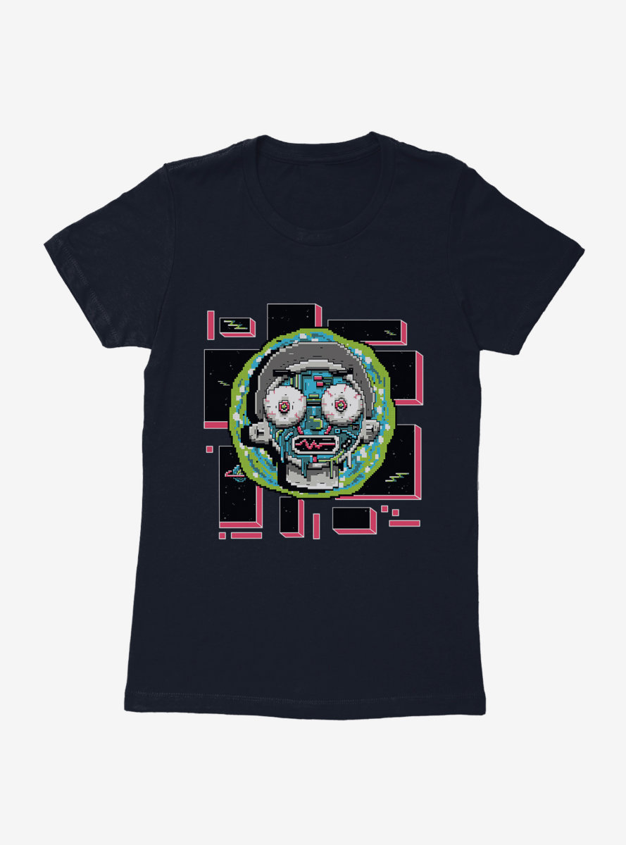 Rick And Morty 8-Bit Universe Morty Womens T-Shirt
