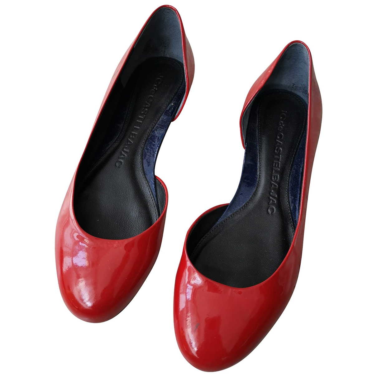 Jc De Castelbajac \N Red Patent leather Ballet flats for Women 39 EU