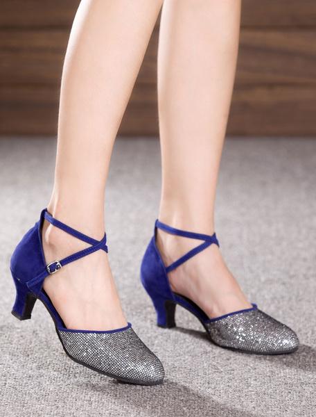 Milanoo Multicolor Dance Sandals Glitter Heels for Women