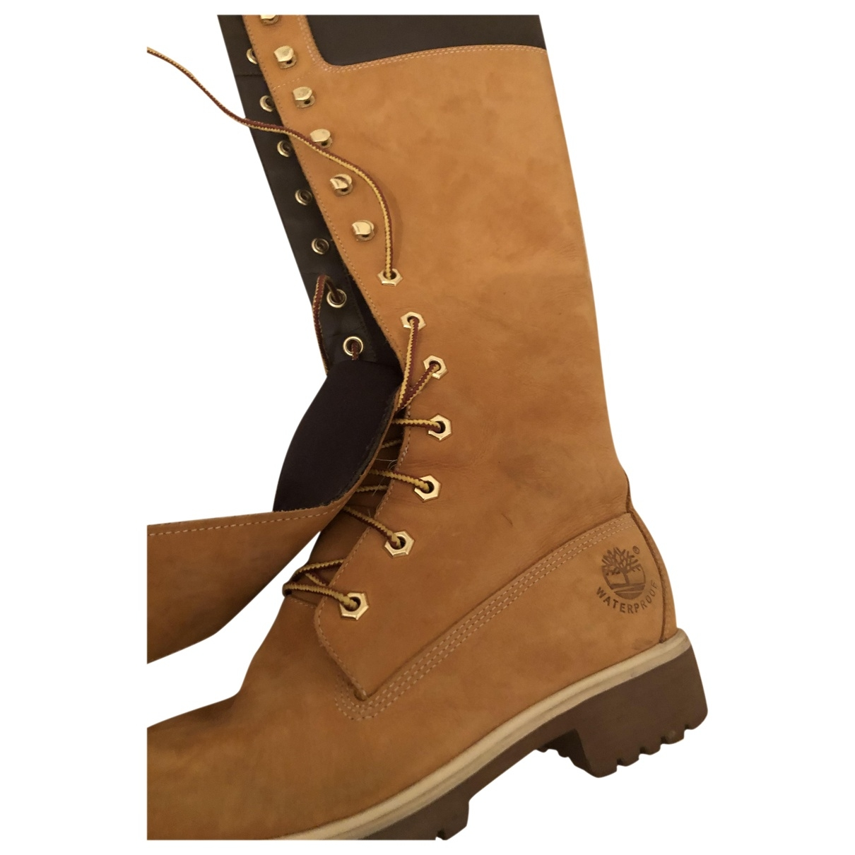 Timberland \N Camel Suede Boots for Kids 36 EU