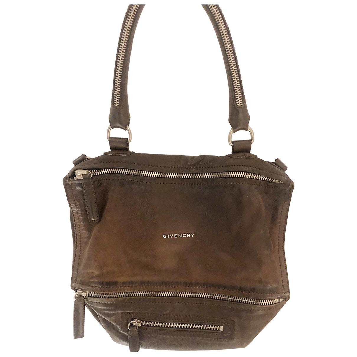 Givenchy Pandora Handtasche in  Braun Leder