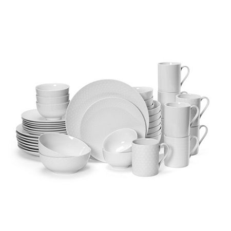 Mikasa Cheers 40-pc. Dinnerware Set, One Size , White