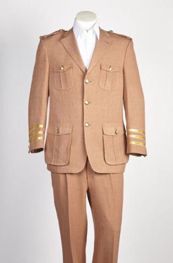 Mens Single Breasted 2 Button Rust Suit