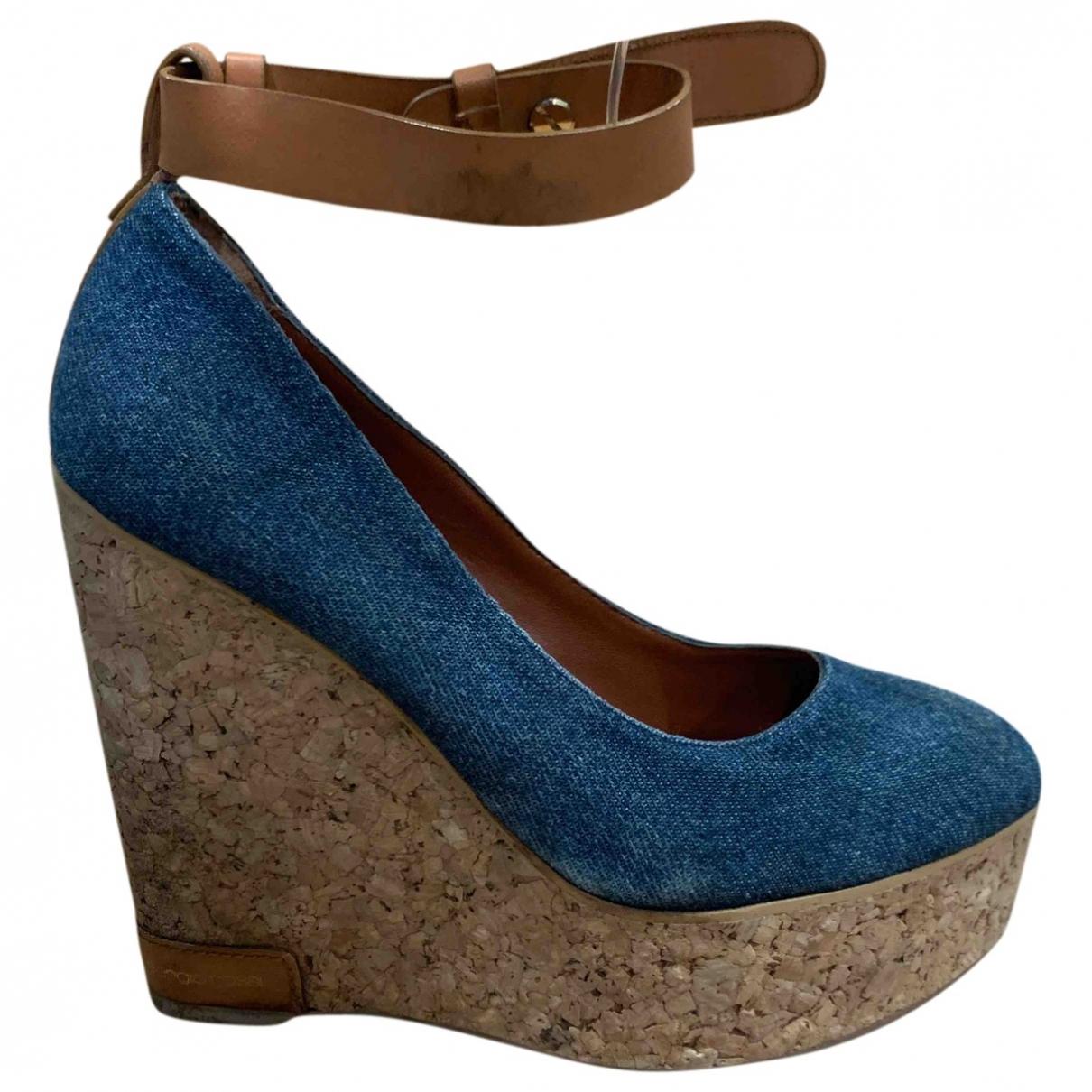 Sergio Rossi - Sandales   pour femme en toile - bleu