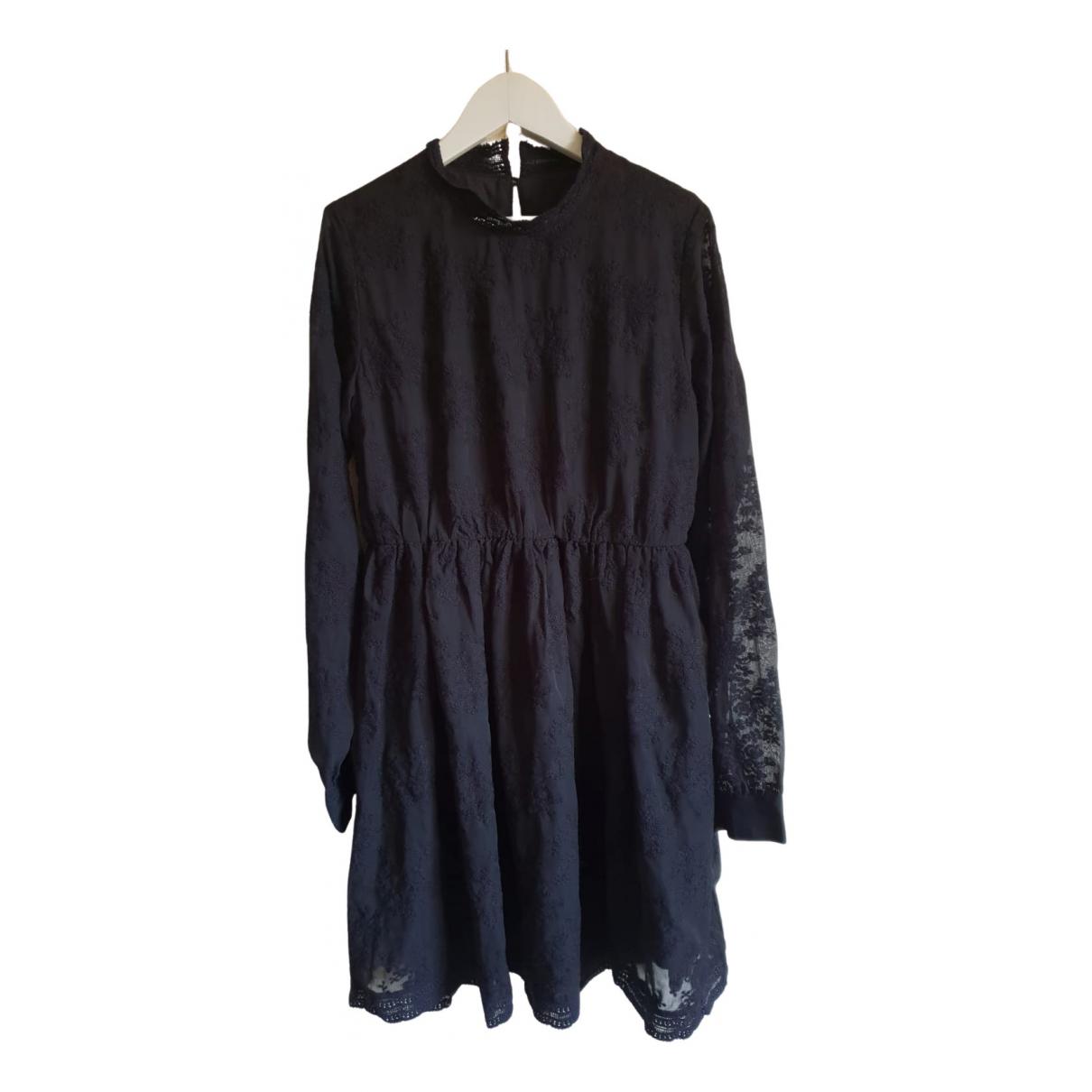 Eleven Paris \N Kleid in  Schwarz Baumwolle