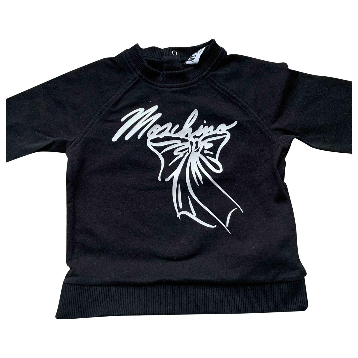 Moschino - Pull   pour enfant en coton - noir