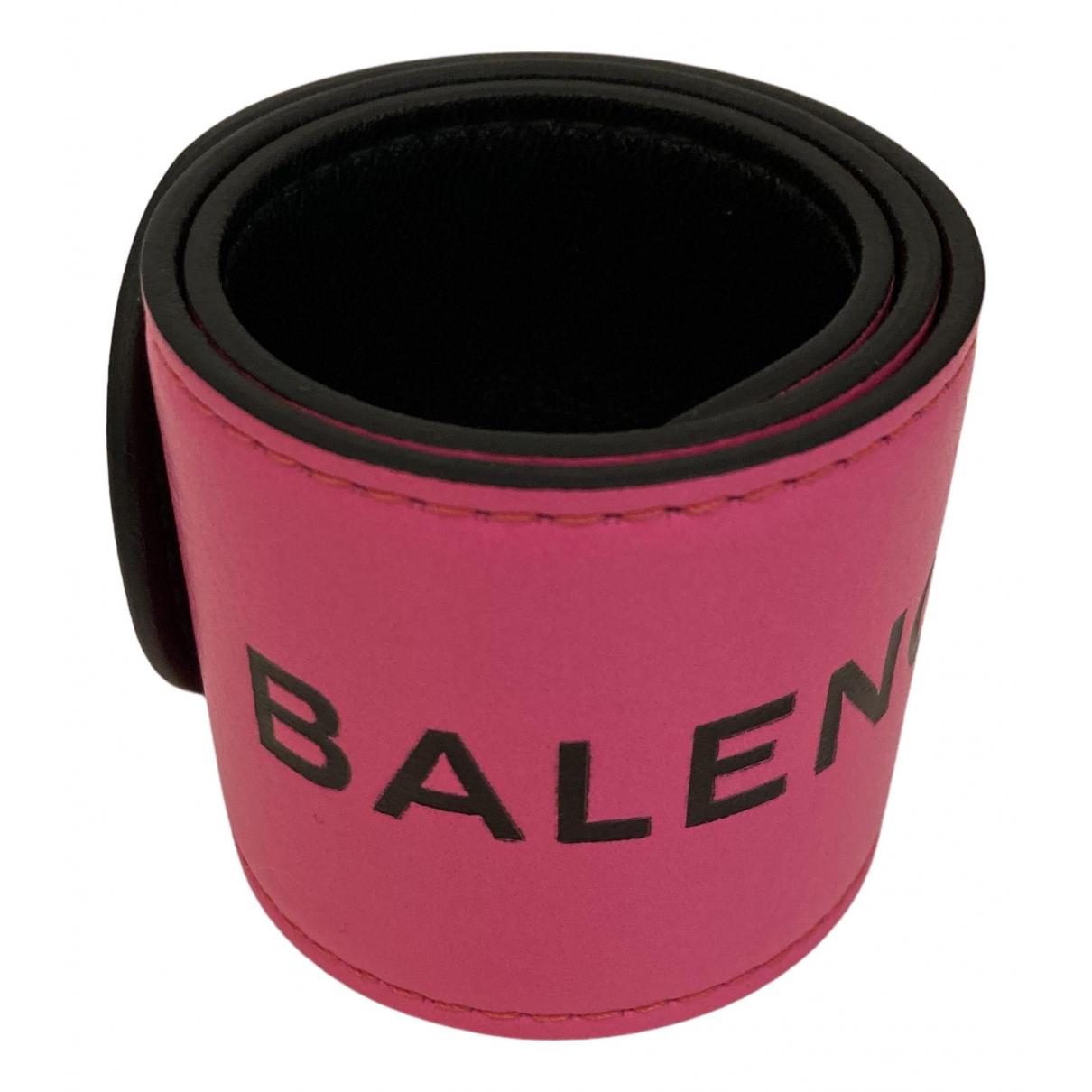 Balenciaga - Bracelet   pour femme en cuir - rose