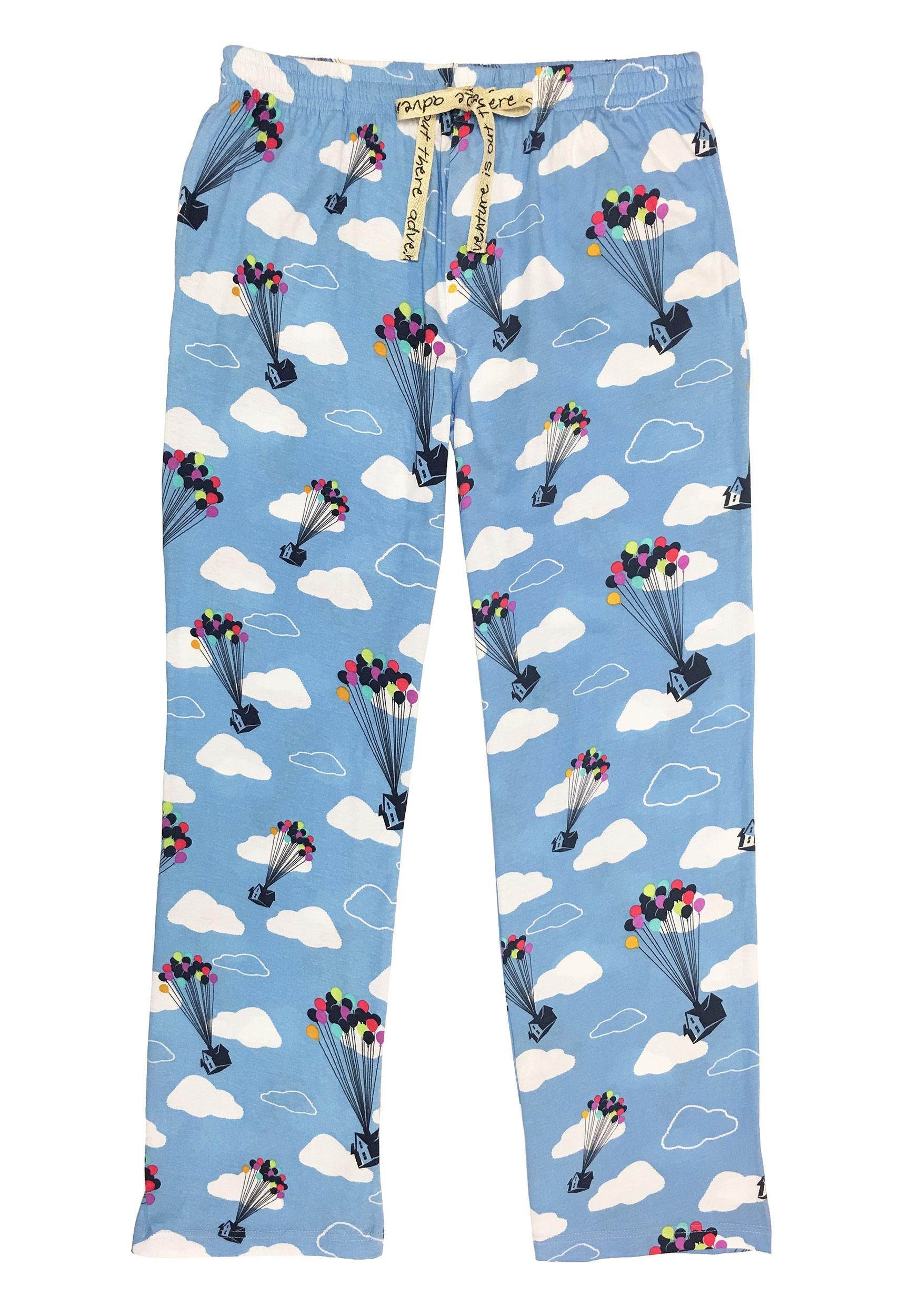 Pixar's Up Cloud Print Light Blue Sleep Pants for Adults