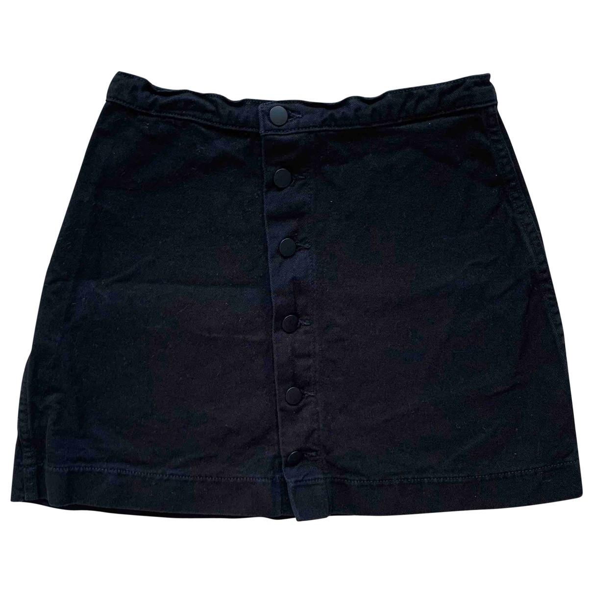 American Apparel - Jupe   pour femme en coton - noir