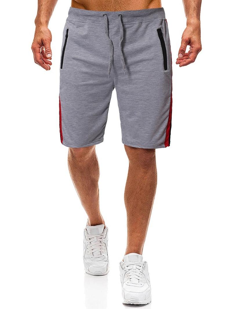 Ericdress Color Block Zipper Lace-Up Men's Fashion Shorts