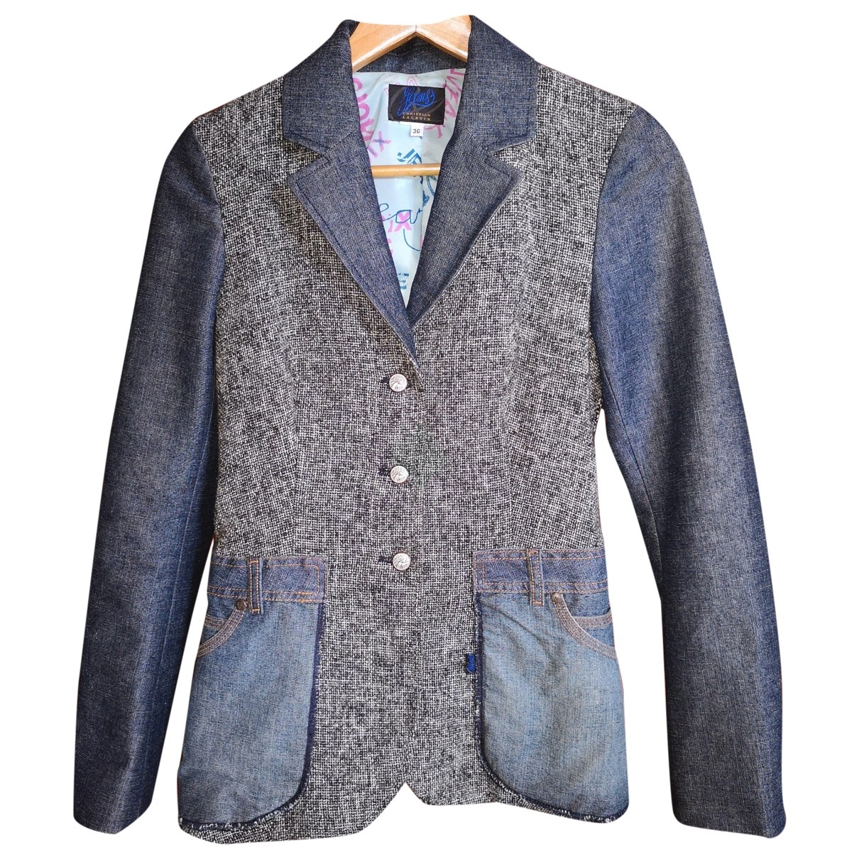 Christian Lacroix \N Jacke in  Blau Tweed