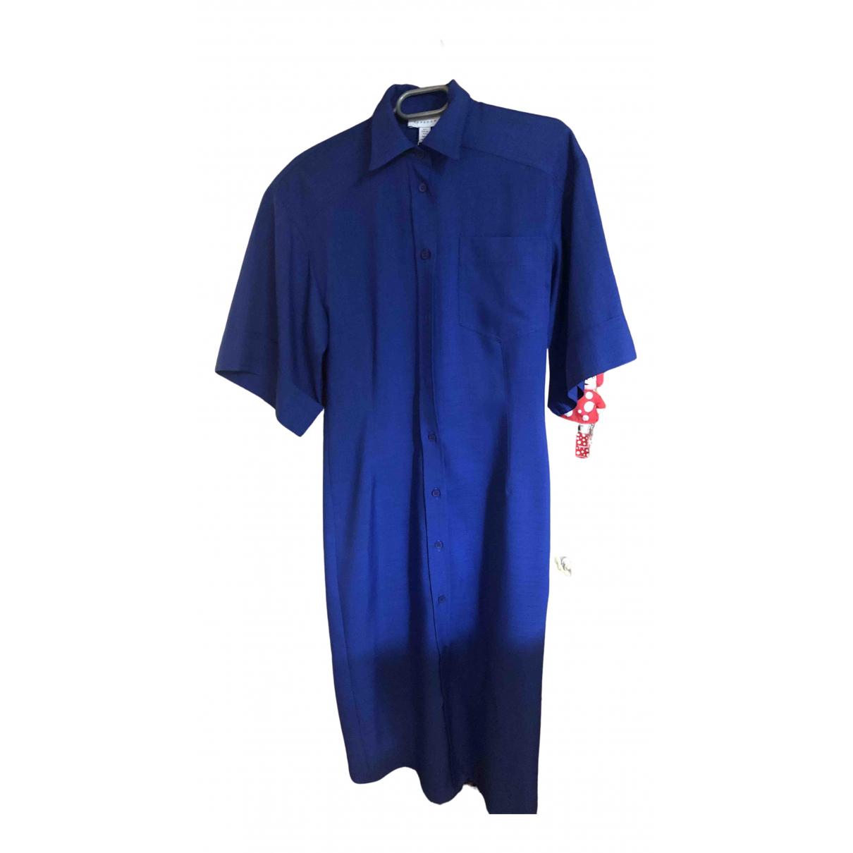 Topshop Boutique - Robe   pour femme en coton - bleu