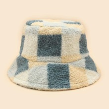 Colorblock Plush Bucket Hat
