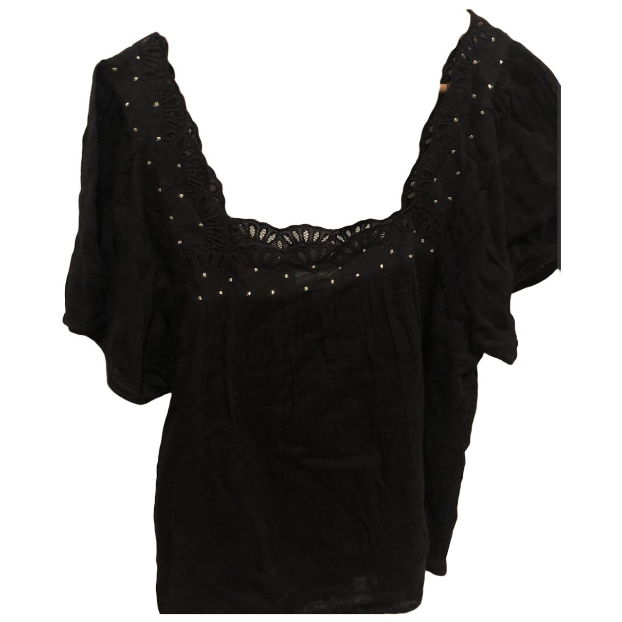 Sezane - Top   pour femme en coton - noir