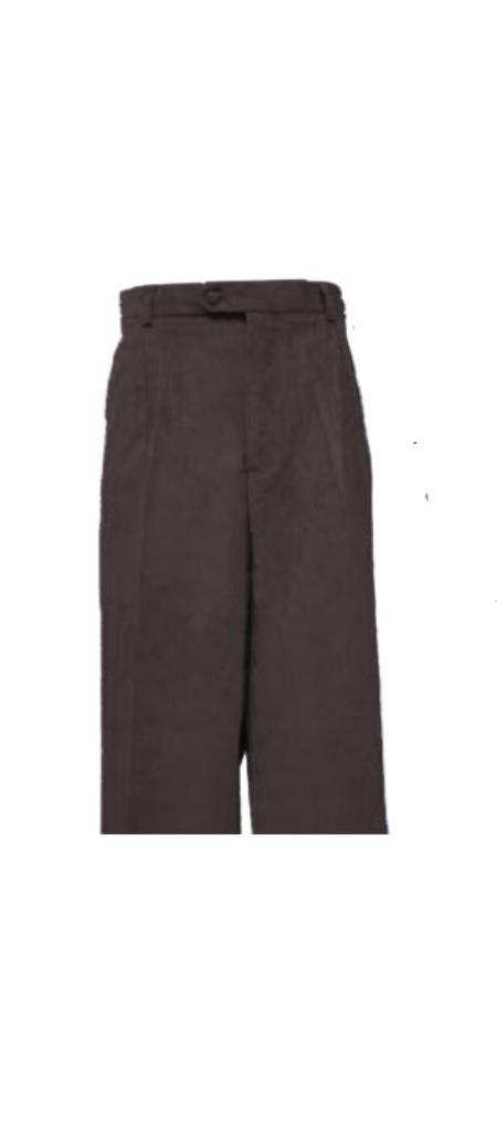 Corduroy Black Pleated Pants Slacks For Men