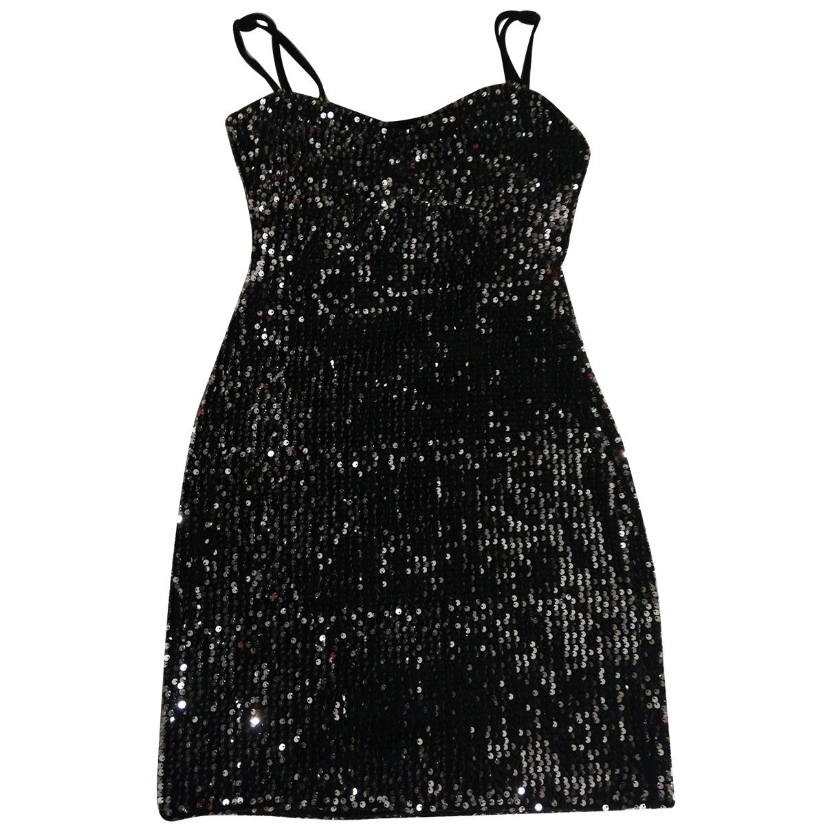 Zara \N Kleid in  Schwarz Mit Pailletten