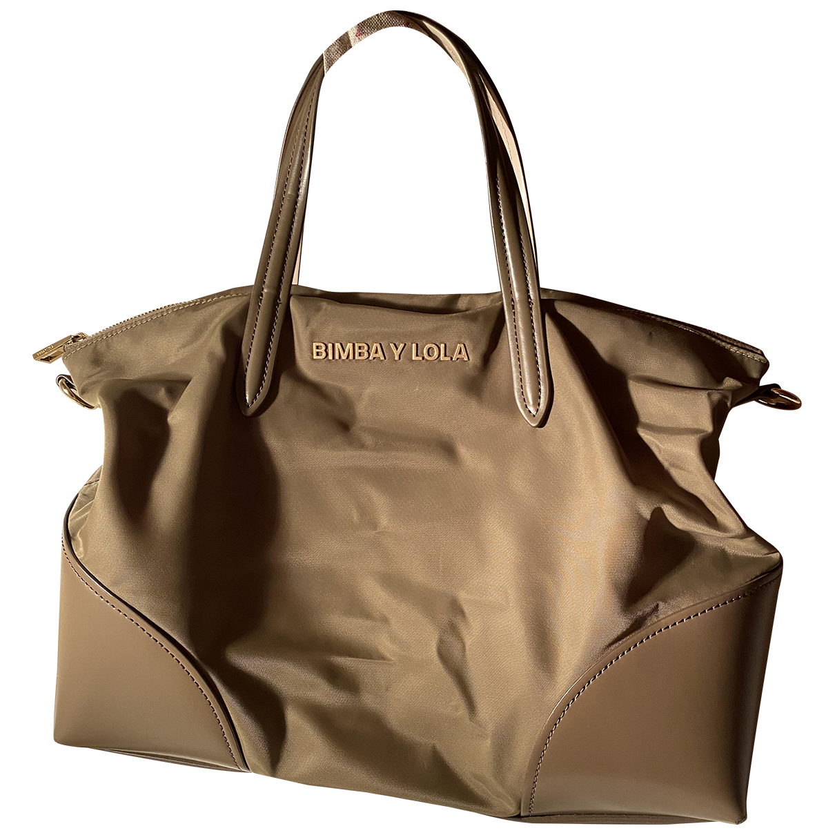 Bimba Y Lola \N Handtasche in  Khaki Polyester