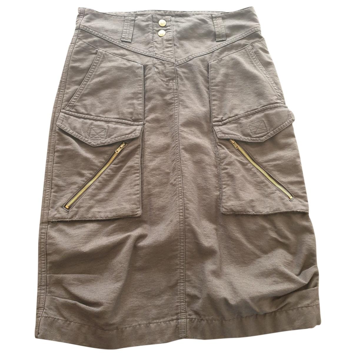 Kenzo \N Black Cotton skirt for Women 34 FR