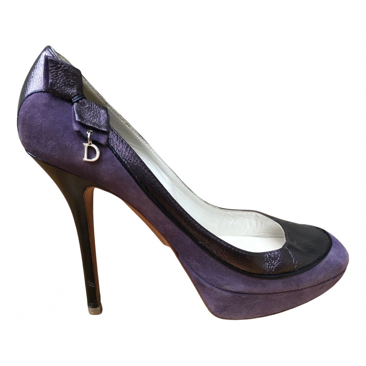 Dior N Purple Patent leather Heels for Women 38 IT