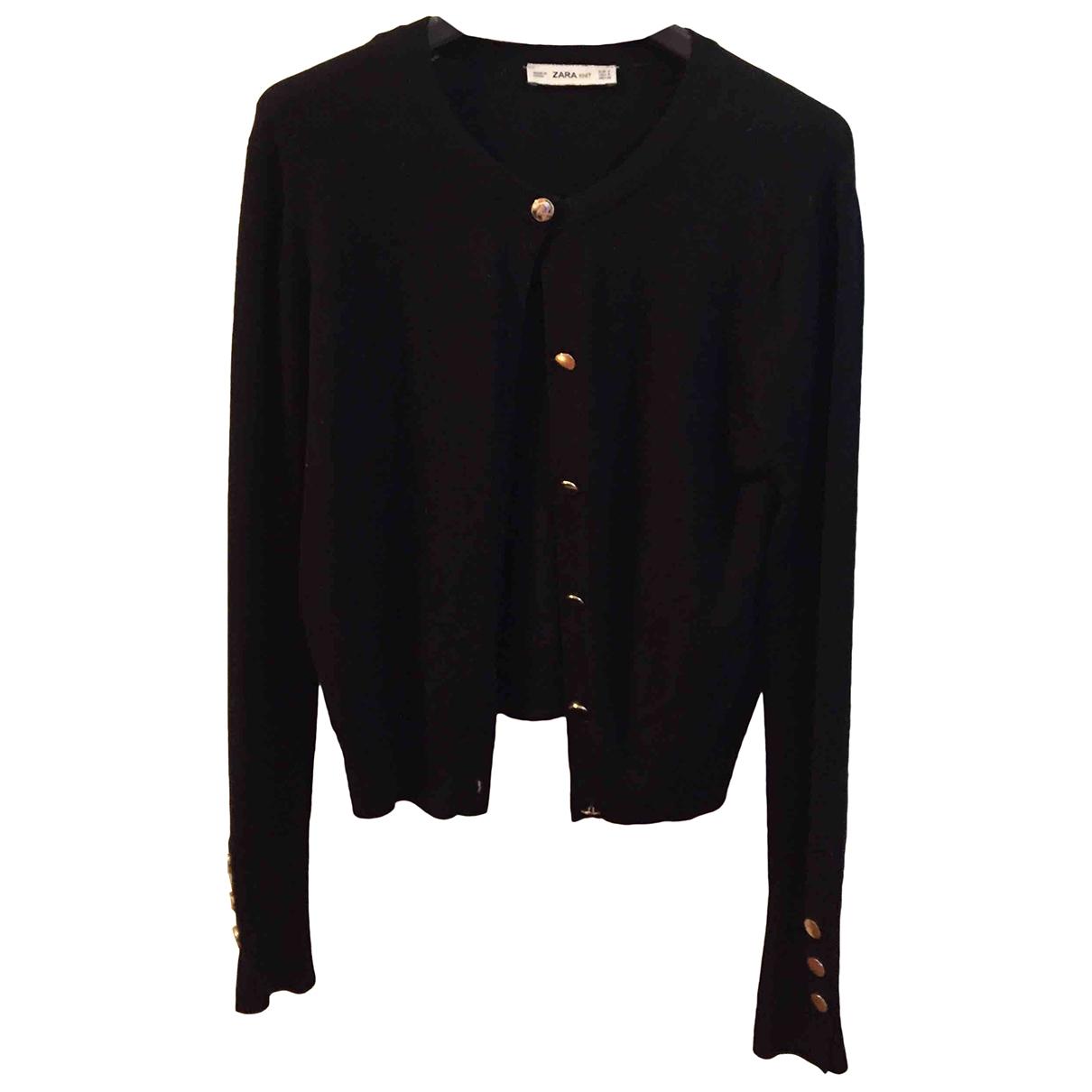 Zara \N Pullover in  Schwarz Viskose