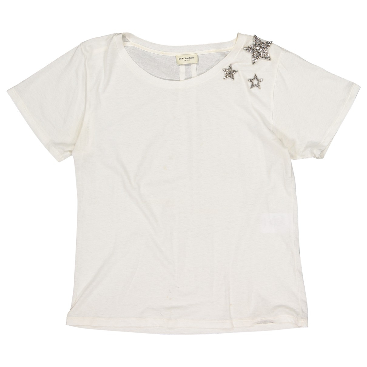 Saint Laurent \N Ecru Cotton  top for Women M International