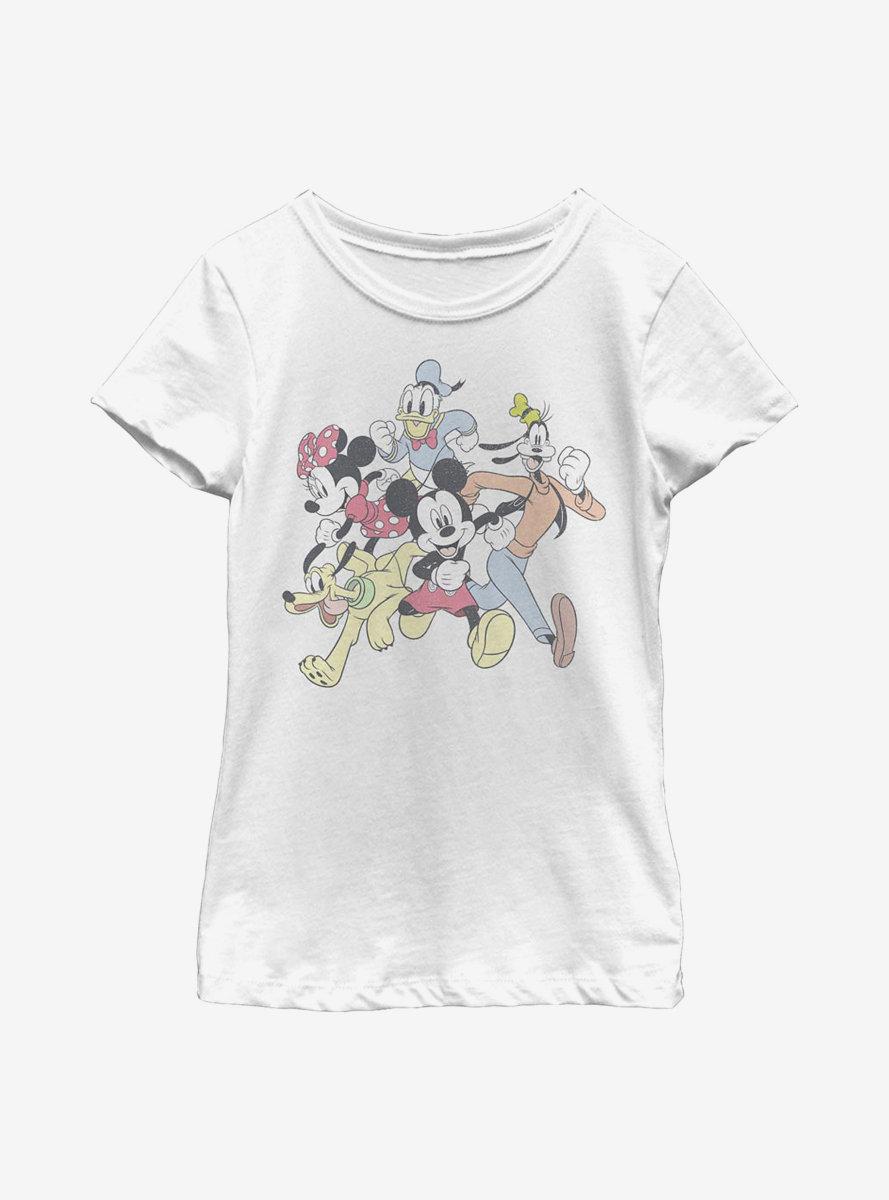 Disney Mickey Mouse Group Run Youth Girls T-Shirt