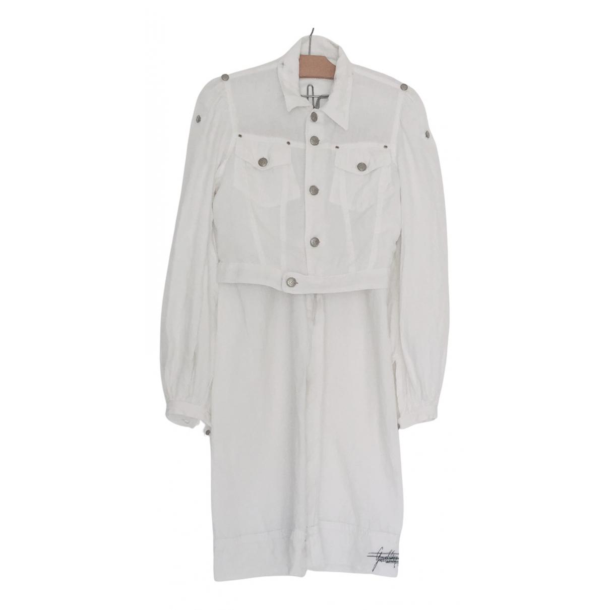 Jean Paul Gaultier - Veste   pour femme en lin - blanc