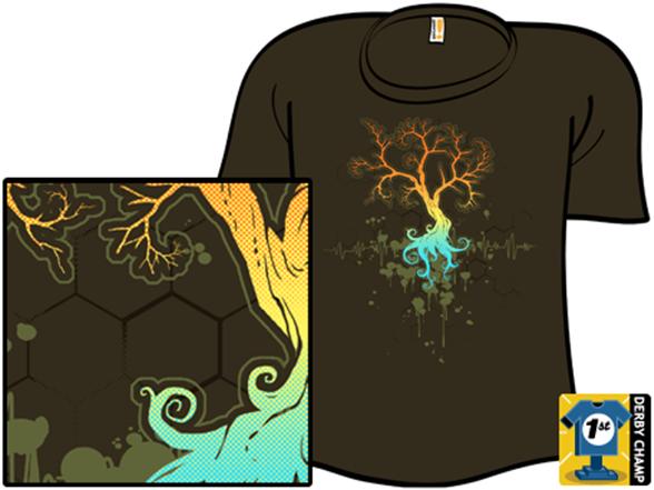 Fractal Tree T Shirt