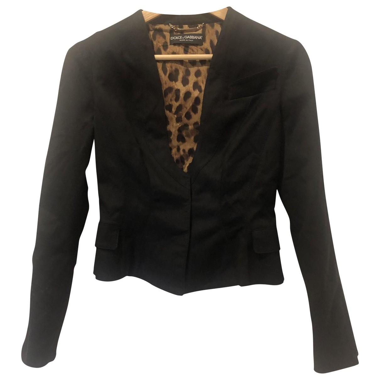 Dolce & Gabbana \N Jacke in  Schwarz Baumwolle