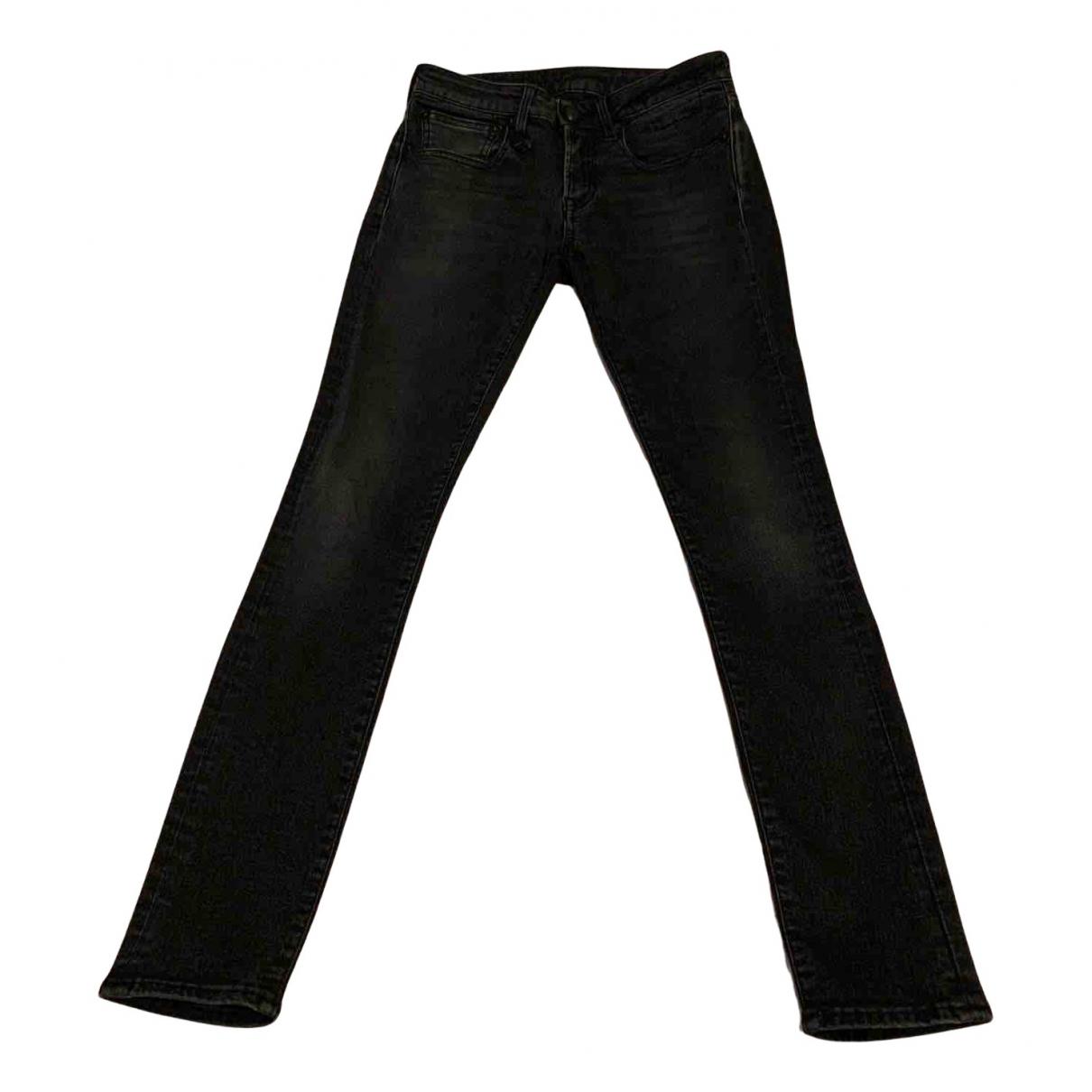 R13 - Jean   pour femme en coton - elasthane - noir