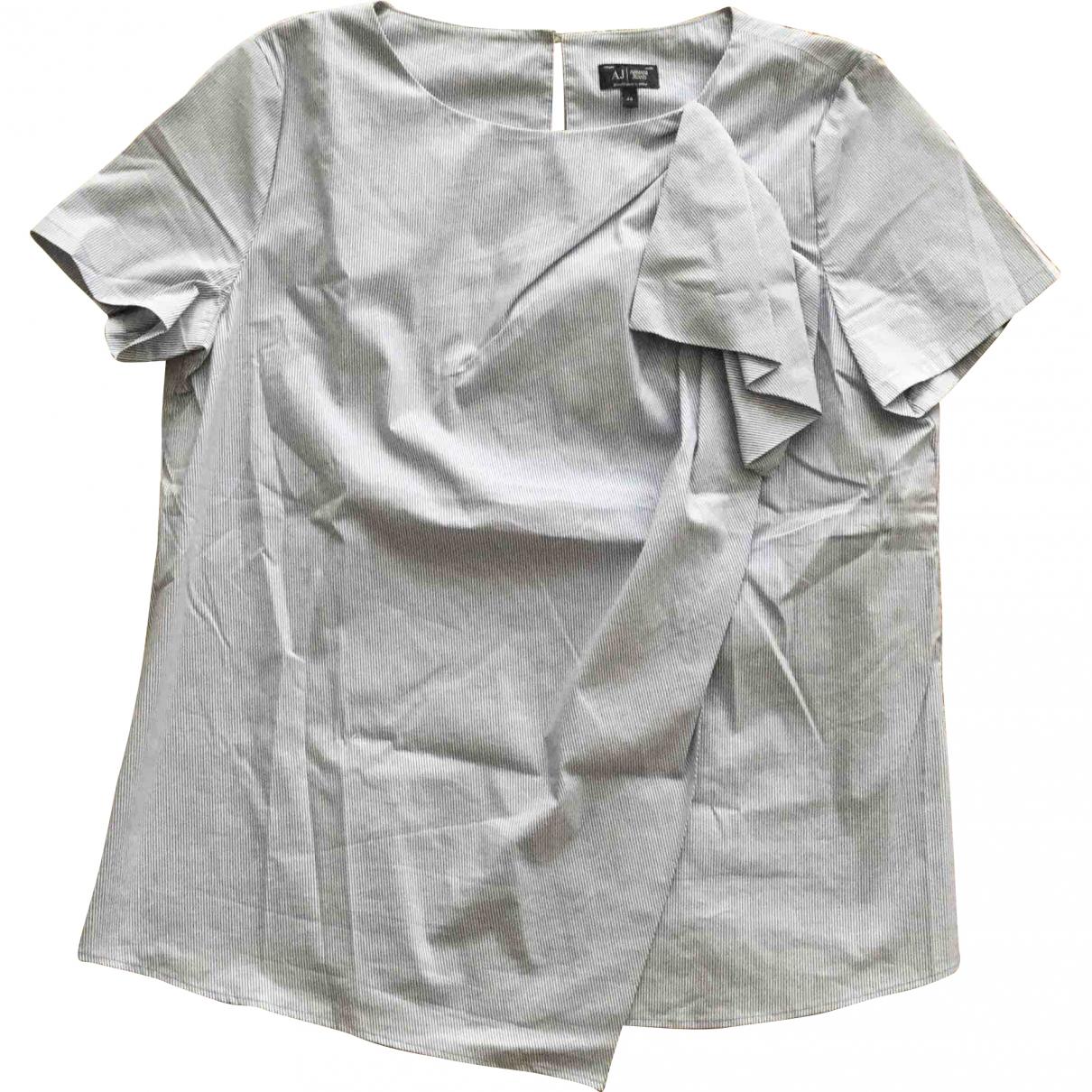 Armani Jeans \N White Cotton  top for Women 48 IT