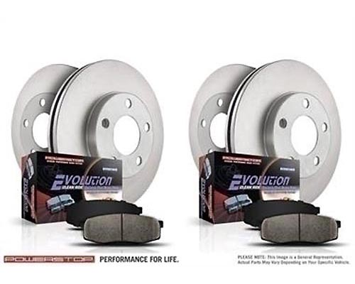 Power Stop KOE4117 Autospecialty Daily Driver Brake Kits Front & Rear KOE4117