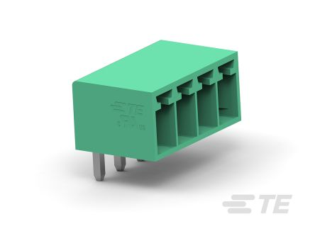 TE Connectivity 3.5mm Pitch, 10 Way PCB Terminal Block, Green (300)