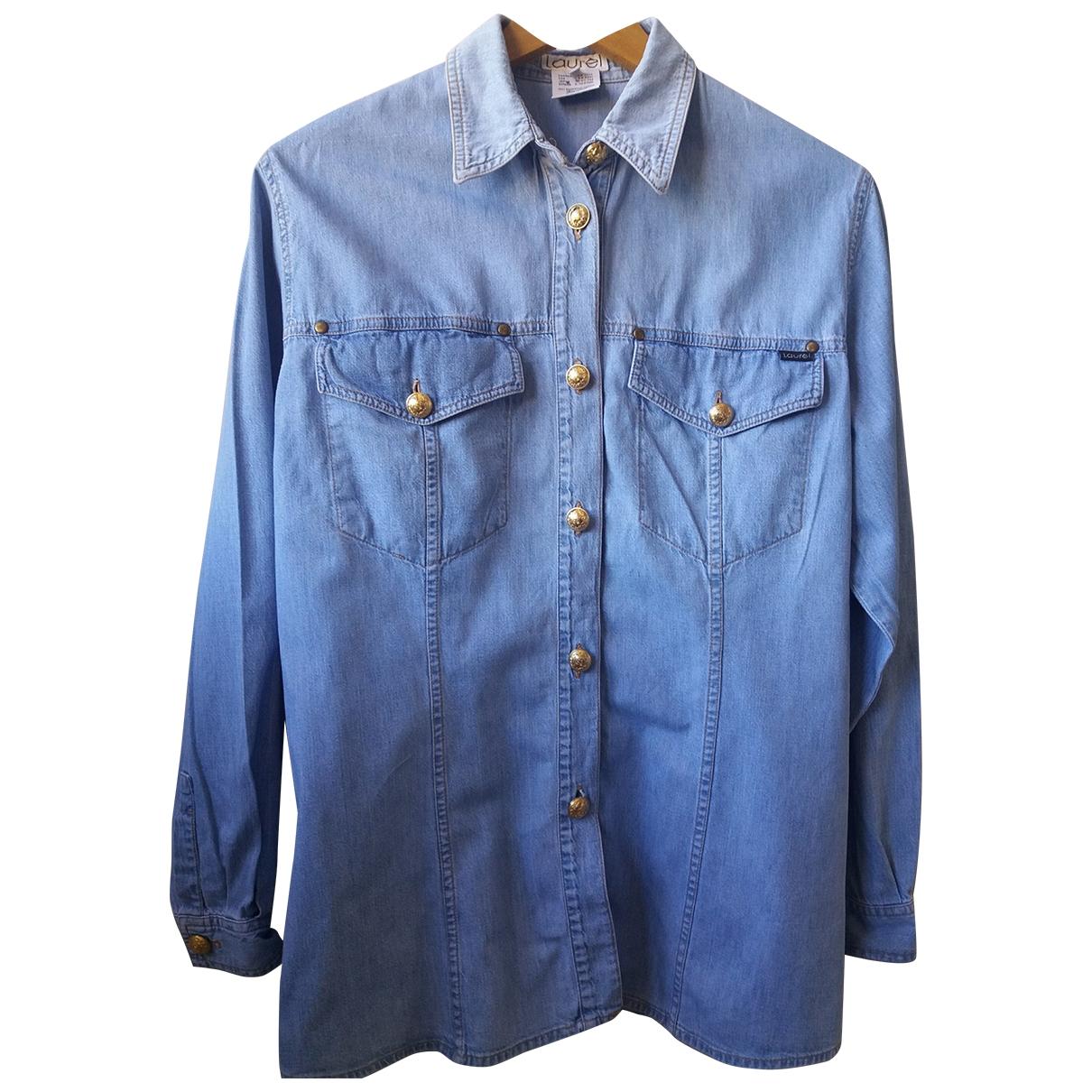Laurel - Top   pour femme en coton - bleu