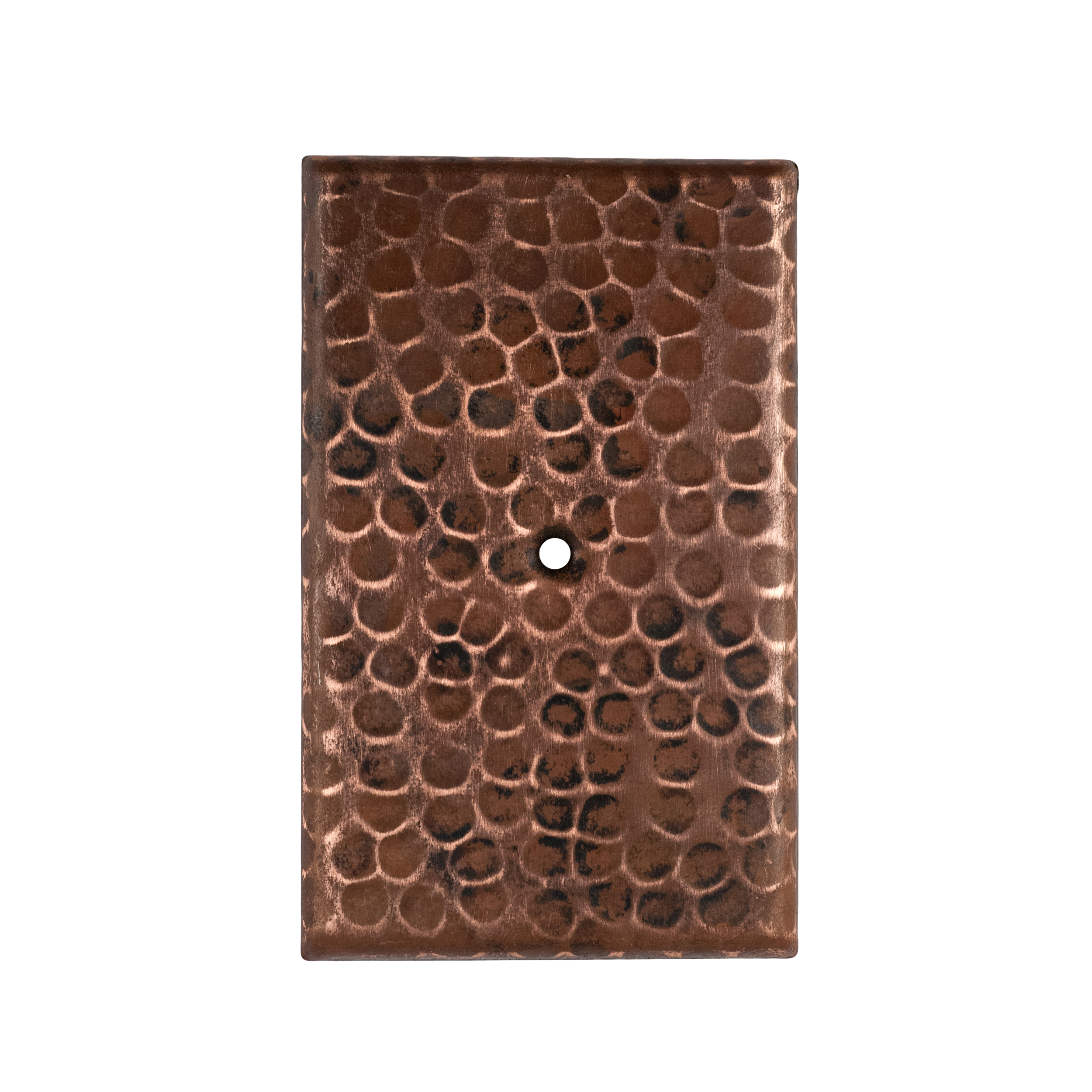 Hand Hammered Switchplate Cover, Single Hole