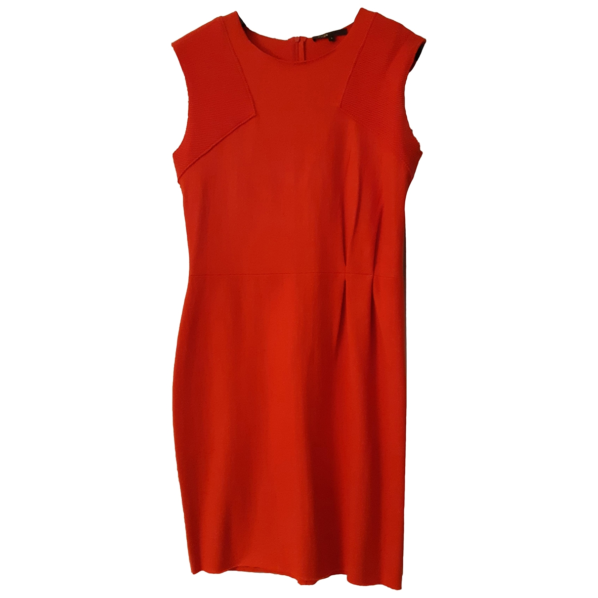Maje - Robe   pour femme en laine - orange