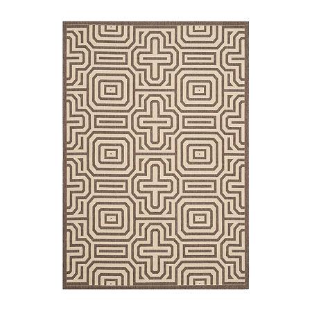 Safavieh Klara Geometric Rectangular Indoor/Outdoor Rugs, One Size , Brown