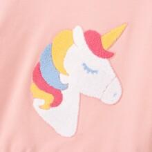 Sweatshirt mit Einhorn Muster