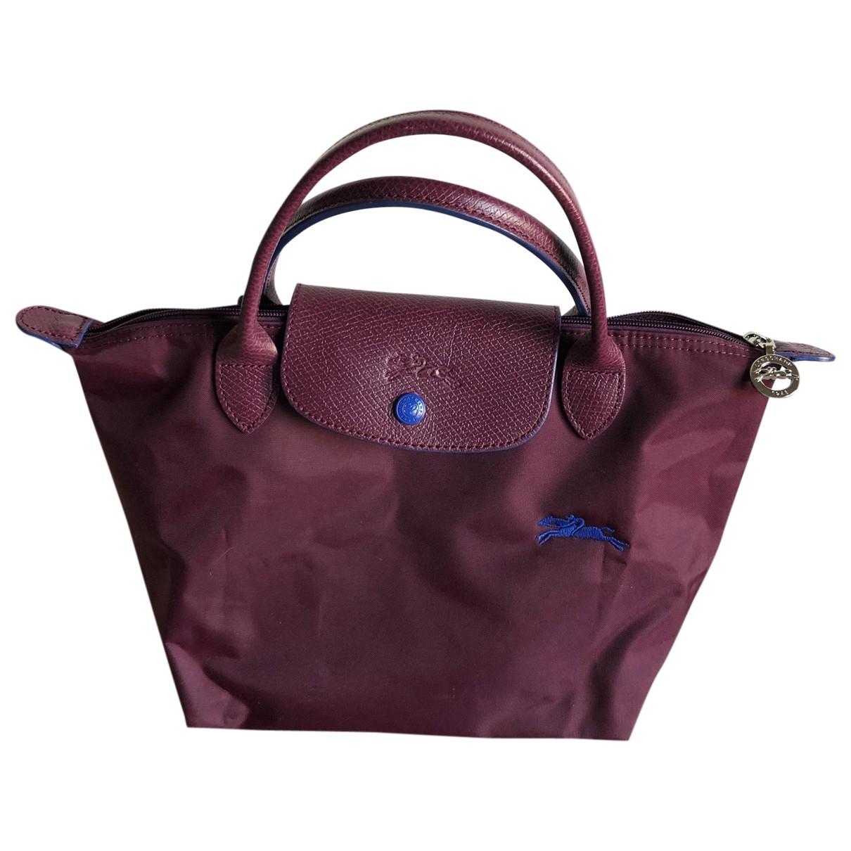 Longchamp Pliage  Purple Cloth handbag for Women \N