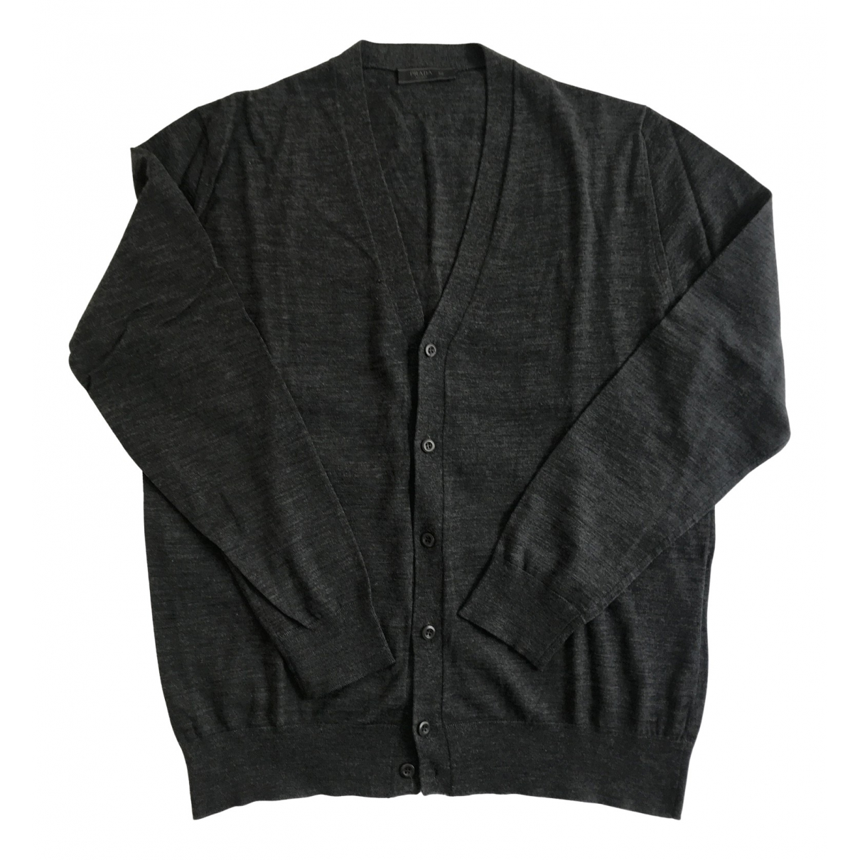 Prada \N Pullover.Westen.Sweatshirts  in  Anthrazit Wolle