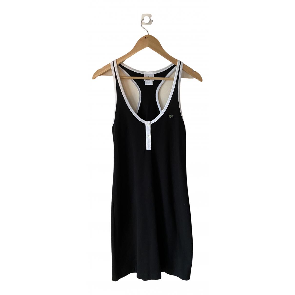 Lacoste \N Kleid in  Schwarz Baumwolle - Elasthan