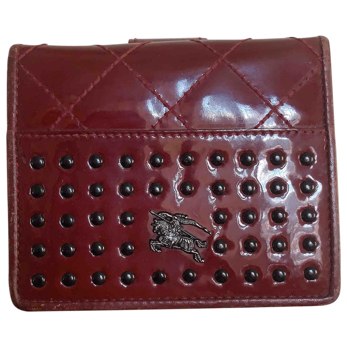 Burberry \N Burgundy Patent leather wallet for Women \N