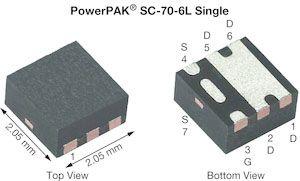 Vishay Siliconix P-Channel MOSFET, 10 A, 40 V, 6-Pin SC-70  SQA405EJ-T1_GE3 (3000)
