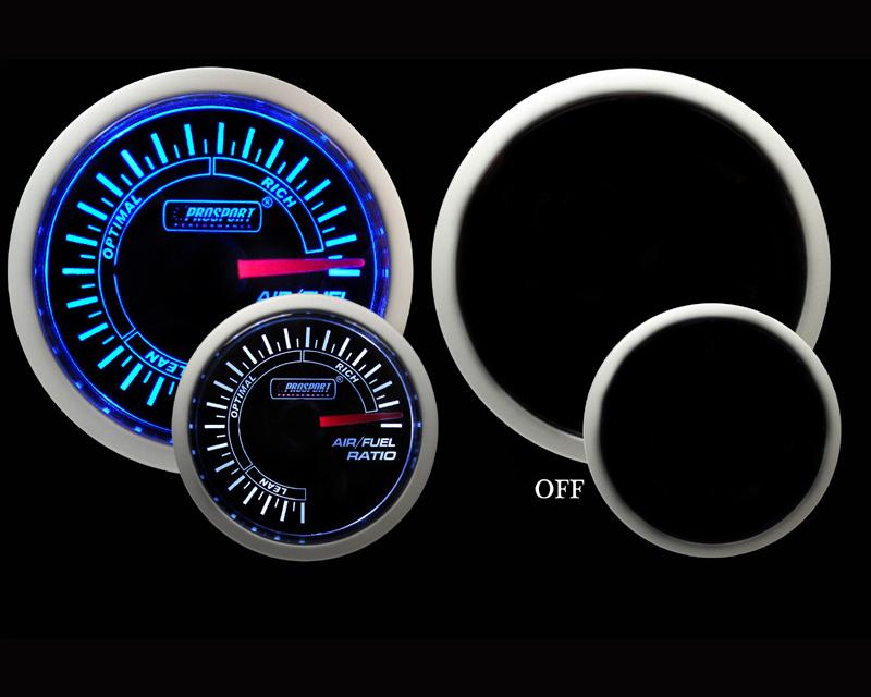 Prosport Performance Air Fuel Ratio Gauge Electrical Analog Blue | White 52mm