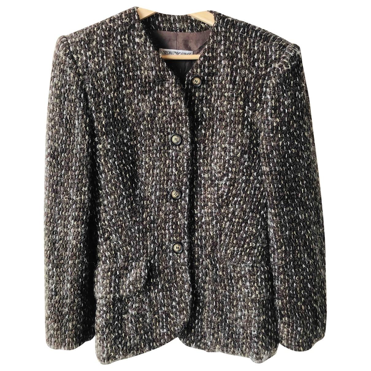 Emporio Armani \N Brown Wool jacket for Women 40 IT